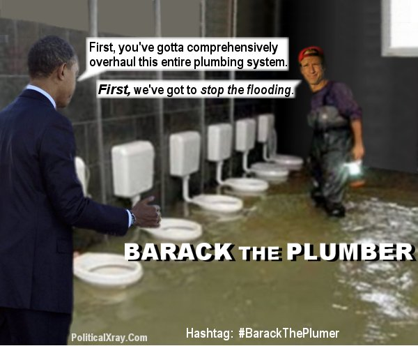 Funny out of order bathroom signs - Barack The Plumber Orders Comprehensive Plumbing Re Design