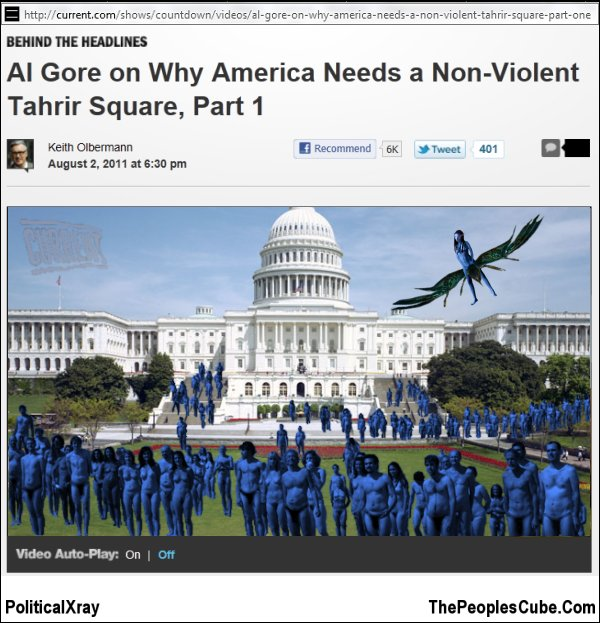 Al Gore Urges Arab Spring for US- Neytiri Naked-Truth Report